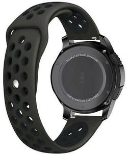 Black Sports Silicone Replacement Watch Band Strap Quick Rel