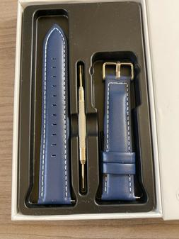 Blue Leather Watch Band,QUICK RELEASE Fullmosa  Genuine Leat