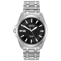 Citizen Men's Eco-Drive Stainless Steel Dress Watch with Dat