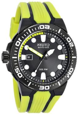 "Citizen Men's BN0095-16E Eco-Drive ""Scuba Fin"" Yellow and Bl"