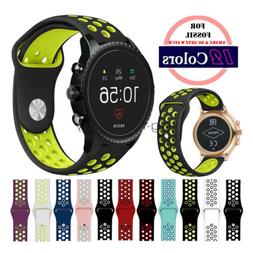 Bracelet Silicone Sport Band Watch Strap for Fossil Q 20mm 2
