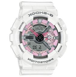 Brand New Casio G-Shock GMAS110MP-7A White Pink Resin **FREE