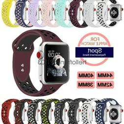 Breathable Silicone Sport Watch Band Strap For Apple Watch 4