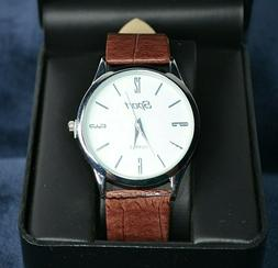 Quartz Business Sport Watch With Brown Watch Band New in Box