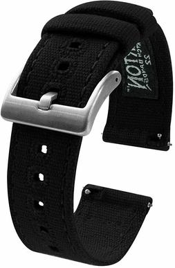 Canvas Quick Release Watch Band Straps - Choose Color & Widt