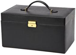 Large Jewelry Case with Six Drawers, One Small and One Large