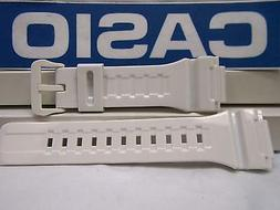 Casio Watch Band AQ-S810 White Rubber Strap for Tough Solar