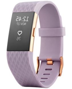 Fitbit Unisex Charge 2 Lavender Strap Heart Rate + Fitness W