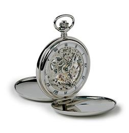 Rapport of London Chrome Hunting Case Pocket Watch with Skel