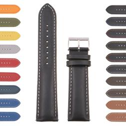 StrapsCo Classic Mens Leather Watch Band - Quick Release Men