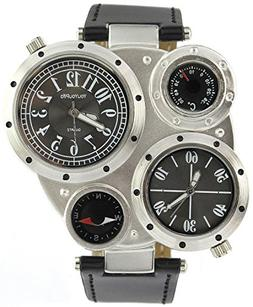 YouYouPifa Classy 4 Dial Stainless Steel Quartz Watch