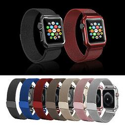 Colorful Milanese Magnetic Wrist Band+Metal Holder For Apple