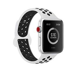AdMaster Compatible for Apple Watch Bands 38mm,Soft Silicone