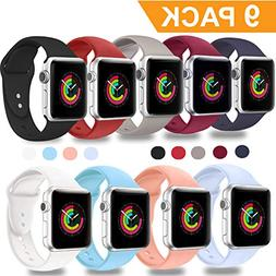 DOBSTFY Compatible for Apple Watch Sport Band 38mm 42mm, Sof