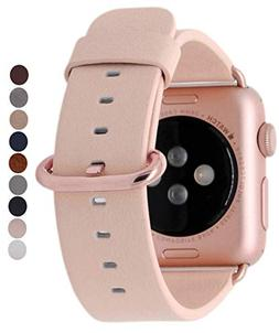 JSGJMY Compatible with Iwatch Band Women Genuine Leather Rep