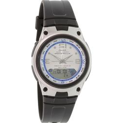 Casio Men's Core AW82-7AV Silver Resin Analog Quartz Watch