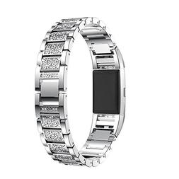Wensltd Crystal Stainless Steel Watch Band Wrist strap For F