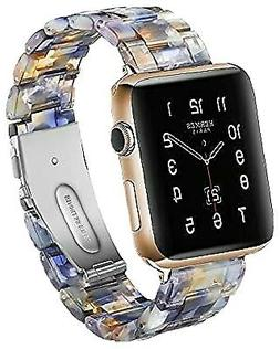 CSVK Resin Band for App le Watch Band 38mm 40mm Men Women Co
