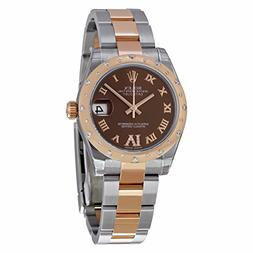 Rolex Datejust Lady 31 Chocolate Dial Steel and 18K Rose Gol
