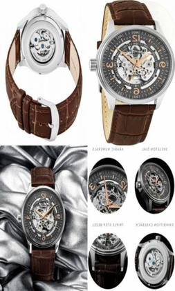 Stuhrling Original Delphi Automatic Watch - Grey Skeleton Di