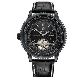 Deluxe Cool Automatic mechanical Genuine leather band Analog