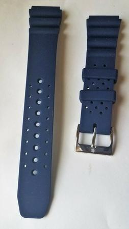Lucky Brand Dillon Sport Blue Watch Silicone Band 20mm color
