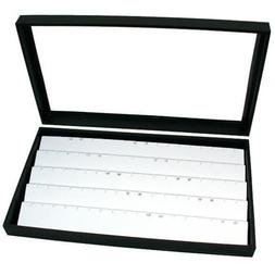 Jewelry Box Display Case Holds 45 Pairs of Earrings White Ne