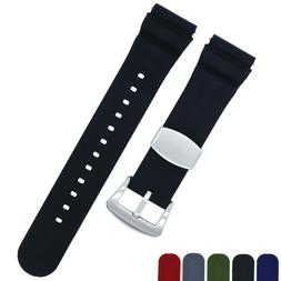 Soft Silicone Watch Band - Divers Style Replacement Strap -