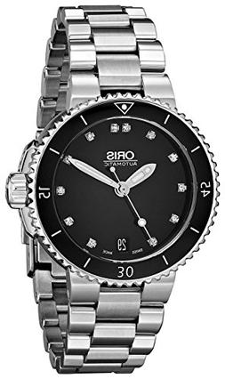 Oris Women's 73376524194MB Divers Stainless Steel Black Dial
