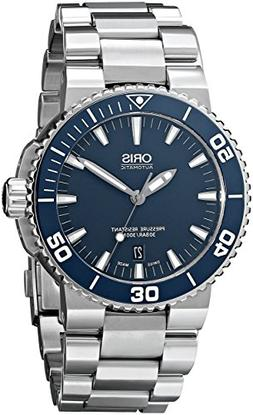 Oris Men's 73376534155MB Divers Stainless Steel Blue Dial Wa
