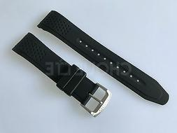 eco drive 22mm black rubber watch band