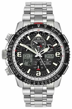 Citizen Eco-Drive JY8070-54E Black Dial Skyhawk Chronograph