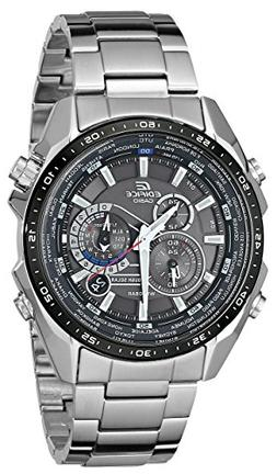 Casio Men's EQS500DB-1A1 Edifice Tough Solar Stainless Steel