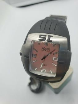 Sector Exp 140 Date Silver Dial Rectangle Swiss Watch Rubber