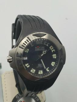 Sector Expander 130 Date Black Dial Rubber Band Swiss Made W