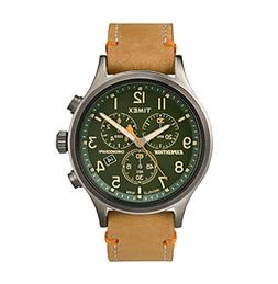 Timex® Men's Expedition Scout Chrono Tan Leather Slip-Th