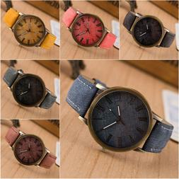 fashion women men casual watch leather band