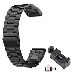 Fenix 5 Band Metal Easy Fit TenCloud Replacement Business S