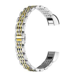 Fitbit Alta HR Bands , ImmSss Stainless Steel Watch Band for