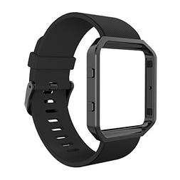Simpeak for Fitbit Blaze Bands with Frame, Silicone Replacem