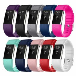 For Fitbit Charge 2 /  2 HR Replacement Silicone Bracelet Wa