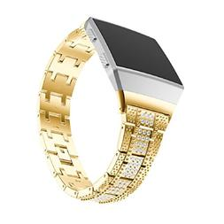 For Fitbit Ionic Watch Band,Vovomay Alloy Crystal Watch Band