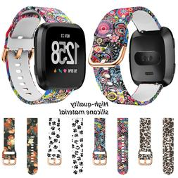 For Fitbit Versa 1 2 Lite Replacement Sport Silicone Watch B