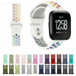 For Fitbit Versa 2 1/Lite Wrist band Breathable Sport Silico