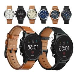 For Fossil Q Smart Watch Band 20mm 22mm Classic Leather Wris