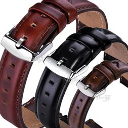 For Fossil Watch Genuine Leather Band Wrist Strap 18/20/22mm