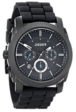 Fossil Men's FS4487 Machine Chronograph Black Stainless Stee