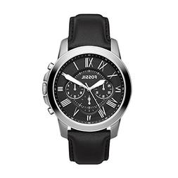Fossil FS4812 Grant Chronograph Black Leather Watch