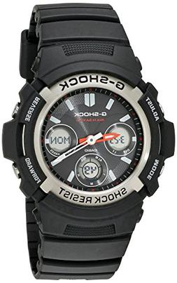 G-Shock AWGM100-1ACR Men's Tough Solar Atomic Black Resin Sp