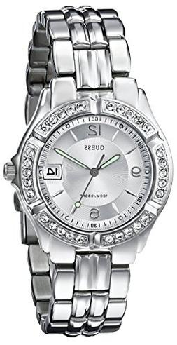 GUESS Women's G75511M Sporty Silver-Tone Stainless Steel Mul